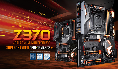 Z370 AORUS Gaming Motherboards with Supercharged Performance