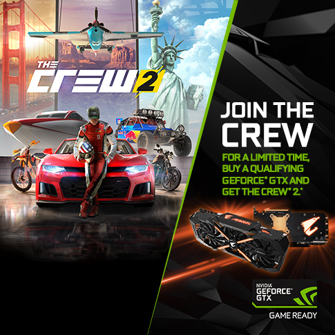 Join the crew, buy a qualifying GeForce® GTX and get The Crew® 2